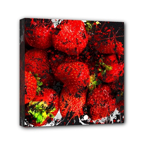 Strawberry Fruit Food Art Abstract Canvas Travel Bag by Nexatart