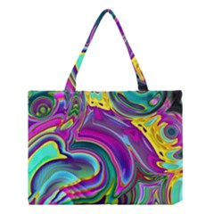 Background Art Abstract Watercolor Medium Tote Bag by Nexatart