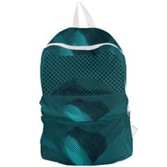 Background Sphere Ball Metal Blue Foldable Lightweight Backpack by Nexatart