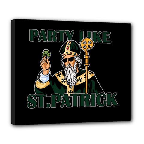 St  Patricks Day  Deluxe Canvas 24  X 20   by Valentinaart