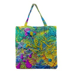 Background Art Abstract Watercolor Grocery Tote Bag by Nexatart