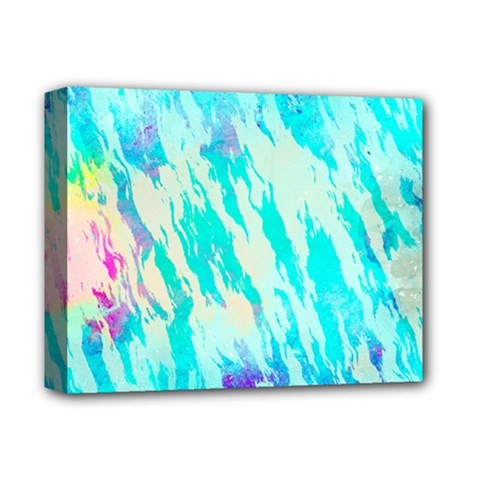Blue Background Art Abstract Watercolor Deluxe Canvas 14  X 11  by Nexatart