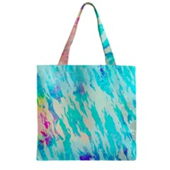 Blue Background Art Abstract Watercolor Zipper Grocery Tote Bag by Nexatart