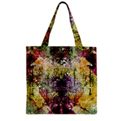 Background Art Abstract Watercolor Zipper Grocery Tote Bag by Nexatart