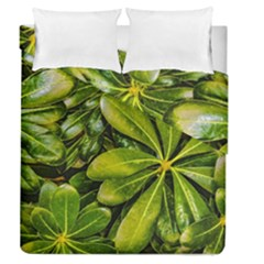 Top View Leaves Duvet Cover Double Side (queen Size) by dflcprints