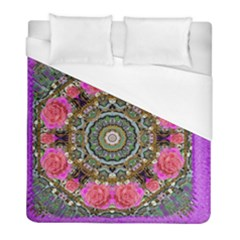 Roses In A Color Cascade Of Freedom And Peace Duvet Cover (full/ Double Size) by pepitasart