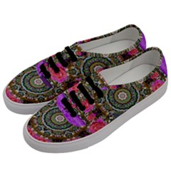 Roses In A Color Cascade Of Freedom And Peace Men s Classic Low Top Sneakers by pepitasart