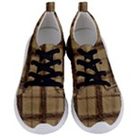 JustB  trendy in plaid~ish shades of brown - Women s Lightweight Sports Shoes