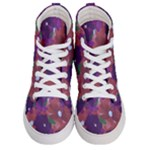 JustB  ShadesOfPurpleFlowers - Women s Hi-Top Skate Sneakers