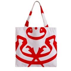 Malaysia Unmo Logo Zipper Grocery Tote Bag by abbeyz71