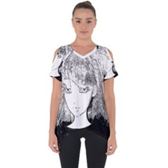 Girl Cut Out Side Drop Tee