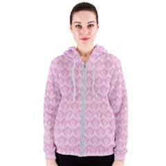 Damask Pink Women s Zipper Hoodie by snowwhitegirl
