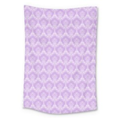 Damask Lilac Large Tapestry by snowwhitegirl