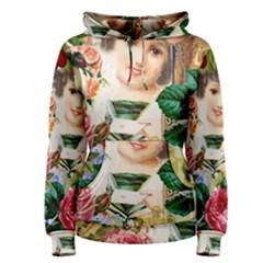 Little Girl Victorian Collage Women s Pullover Hoodie by snowwhitegirl