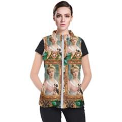 Victorian Collage Of Woman Women s Puffer Vest by snowwhitegirl
