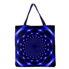 Indigo Lotus  Grocery Tote Bag