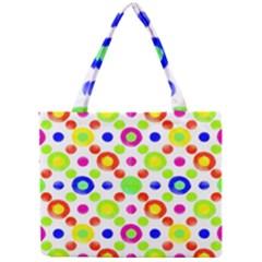 Multicolored Circles Motif Pattern Mini Tote Bag by dflcprints