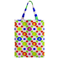 Multicolored Circles Motif Pattern Classic Tote Bag by dflcprints
