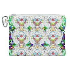 Nine Little Cartoon Dogs In The Green Grass Canvas Cosmetic Bag (xl) by pepitasart