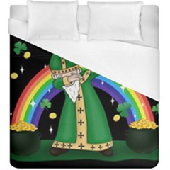 St  Patrick  Dabbing Duvet Cover (king Size) by Valentinaart
