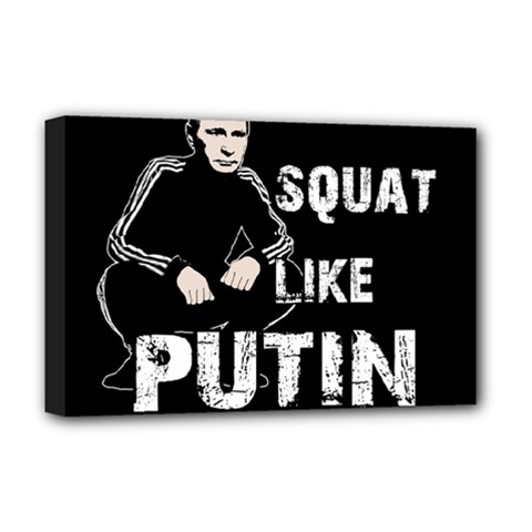 Squat Like Putin Deluxe Canvas 18  X 12   by Valentinaart