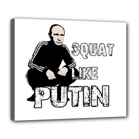Squat Like Putin Deluxe Canvas 24  X 20   by Valentinaart