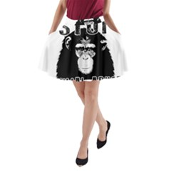 Stop Animal Abuse   Chimpanzee  A Line Pocket Skirt by Valentinaart