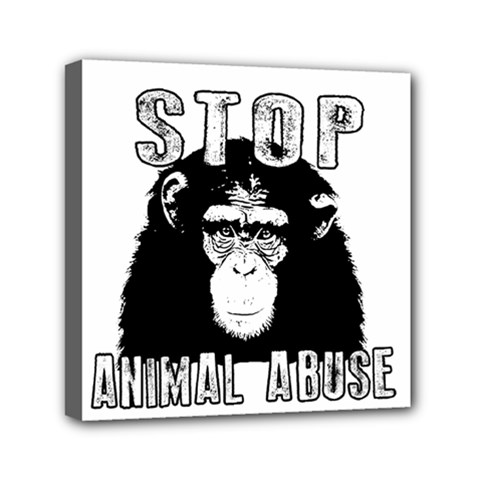 Stop Animal Abuse   Chimpanzee  Canvas Travel Bag by Valentinaart