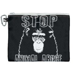Stop Animal Abuse   Chimpanzee  Canvas Cosmetic Bag (xxl) by Valentinaart