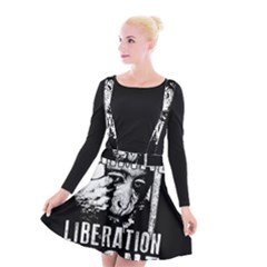 Animal Liberation Front   Chimpanzee  Suspender Skater Skirt by Valentinaart