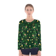 St Patricks Day Pattern Women s Long Sleeve Tee