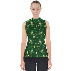 St Patricks Day Pattern Shell Top