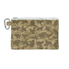 Operation Desert Cat Camouflage Catmouflage Canvas Cosmetic Bag (medium) by PodArtist