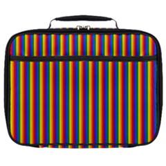 Vertical Gay Pride Rainbow Flag Pin Stripes Full Print Lunch Bag by PodArtist