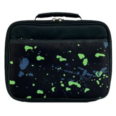 Dark Splatter Abstract Lunch Bag by dflcprints