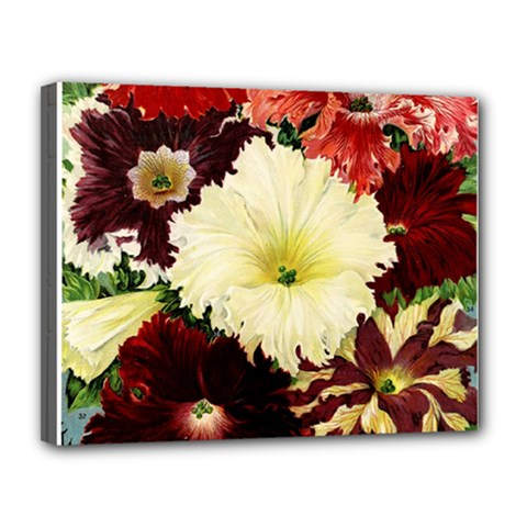 Flowers 1776585 1920 Canvas 14  X 11  by vintage2030