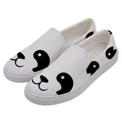 Panda  Men s Canvas Slip Ons by Valentinaart
