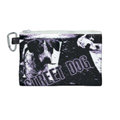 Street Dogs Canvas Cosmetic Bag (medium) by Valentinaart