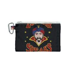 Zoltar Speaks Canvas Cosmetic Bag (small) by Valentinaart