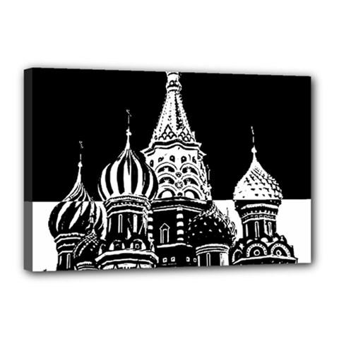 Moscow Canvas 18  X 12  by Valentinaart
