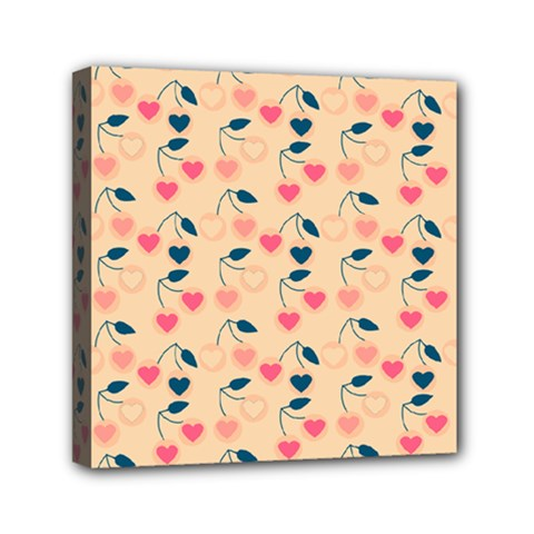 Heart Cherries Cream Canvas Travel Bag by snowwhitegirl
