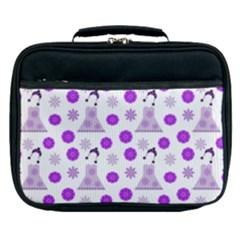Lilac Dress On White Lunch Bag by snowwhitegirl