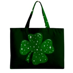 Sparkly Clover Zipper Mini Tote Bag by Valentinaart