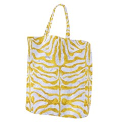 Skin2 White Marble & Yellow Marble (r) Giant Grocery Zipper Tote by trendistuff