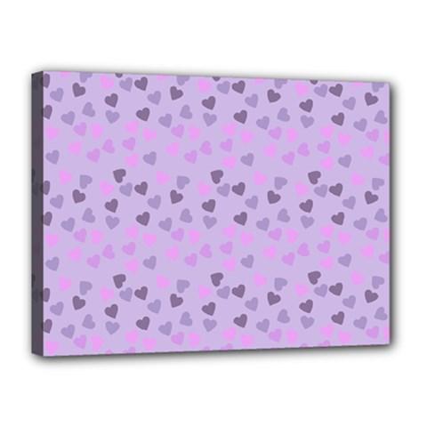 Heart Drops Violet Canvas 16  X 12  by snowwhitegirl