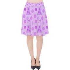 Purple Dress Velvet High Waist Skirt by snowwhitegirl