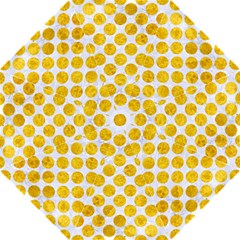 Circles2 White Marble & Yellow Marble (r) Straight Umbrellas by trendistuff