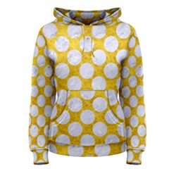 Circles2 White Marble & Yellow Marble Women s Pullover Hoodie