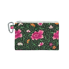 Pink Japan Floral Canvas Cosmetic Bag (small) by snowwhitegirl