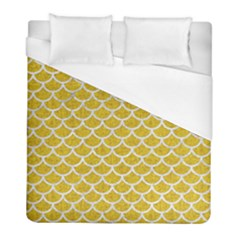 Scales1 White Marble & Yellow Denim Duvet Cover (full/ Double Size) by trendistuff